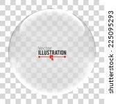 glass sphere. vector... | Shutterstock .eps vector #225095293