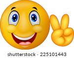 emoticon with v sign | Shutterstock . vector #225101443