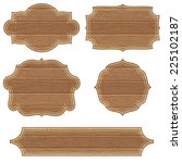 collect retro wooden board... | Shutterstock .eps vector #225102187