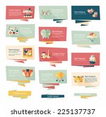 baby flat banner background set ... | Shutterstock .eps vector #225137737