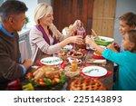 portrait of modern family of... | Shutterstock . vector #225143893