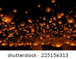 floating lantern at chiang mai... | Shutterstock . vector #225156313