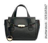 black female bag isolated on... | Shutterstock . vector #225165367