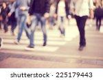 pedestrian on zebra in motion... | Shutterstock . vector #225179443