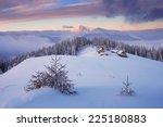 beautiful christmas landscape.... | Shutterstock . vector #225180883