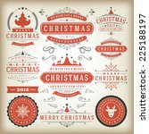 christmas decoration vector... | Shutterstock .eps vector #225188197