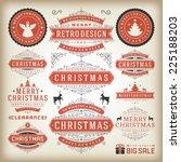 christmas decoration vector... | Shutterstock .eps vector #225188203