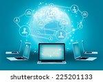 modern wireless technology and... | Shutterstock . vector #225201133
