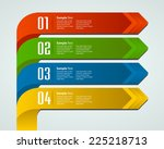 colorful modern text box... | Shutterstock .eps vector #225218713
