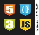 development graphic design  ... | Shutterstock .eps vector #225227677
