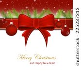 christmas background or happy... | Shutterstock .eps vector #225237313
