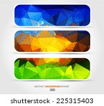 set banners blue  purple  green ... | Shutterstock .eps vector #225315403