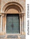 Old Metal Door  Side Entrance...