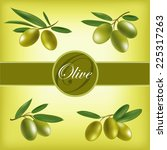vector set of olive branches. | Shutterstock .eps vector #225317263