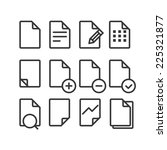 different documents icons set...