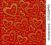 gold and red hearts | Shutterstock . vector #225328993