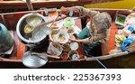 floating market in thailand... | Shutterstock . vector #225367393