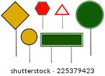vector blank traffic signs | Shutterstock .eps vector #225379423