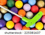 green mini golf putter with... | Shutterstock . vector #225381637