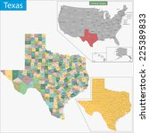 map of texas state designed in... | Shutterstock .eps vector #225389833