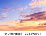 bay view setting sun  | Shutterstock . vector #225390937