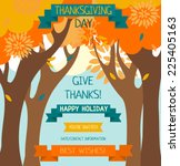thanksgiving card template ... | Shutterstock .eps vector #225405163