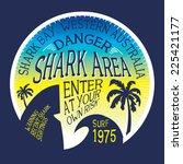surf typography  t shirt... | Shutterstock .eps vector #225421177