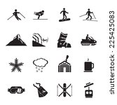 ski resort icons set | Shutterstock .eps vector #225425083