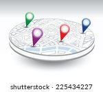 a set of  icons isometric city... | Shutterstock . vector #225434227