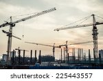 silhouette of construction site | Shutterstock . vector #225443557