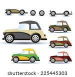 various variants of a car on a... | Shutterstock . vector #225445303