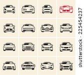 car icons outline | Shutterstock .eps vector #225454237