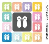 sandals icon color set vector... | Shutterstock .eps vector #225458647