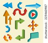 vector arrows 3d | Shutterstock .eps vector #225460987
