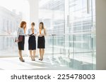 full length of businesswomen... | Shutterstock . vector #225478003