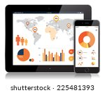vector detailed tablet and... | Shutterstock .eps vector #225481393