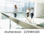 blurred motion of businesswomen ... | Shutterstock . vector #225484183