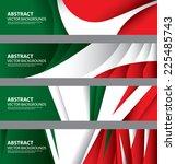 abstract italian flag  italy... | Shutterstock .eps vector #225485743