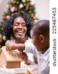 Christmas  Mother Laughs While...