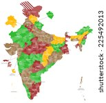 a large and detailed map of... | Shutterstock .eps vector #225492013