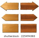 set of wooden signs on white... | Shutterstock . vector #225494383