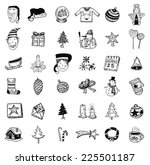doodle christmas element.... | Shutterstock .eps vector #225501187