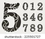 vector set numbers design... | Shutterstock .eps vector #225501727