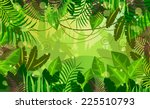vector background jungle | Shutterstock .eps vector #225510793