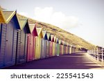 View Of Colorful Beach Huts ...
