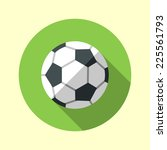 football soccer ball icon. long ... | Shutterstock .eps vector #225561793
