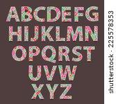 vector alphabet set. hand drawn ...   Shutterstock .eps vector #225578353