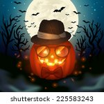 halloween vector illustration. | Shutterstock .eps vector #225583243