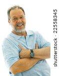 portrait of a happy senior man   Shutterstock . vector #22558345