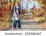 adorable cute boy and girl has... | Shutterstock . vector #225586267
